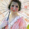 Lady With A Parasol 1921 by Reid Robert Lewis