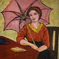 Lady With An Umbrella by Asha Sudhaker Shenoy