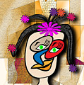 Lady With Flowers In Her Hair by Iris Gelbart