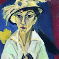 Lady With Hat By Ernst Ludwig Kirchner 1913  by Ernst Ludwig Kirchner