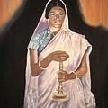 Lady With Lamp by Sreekala Nambiar