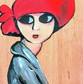 Lady With Red Hat by Deborah Williams