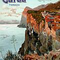 Lago Di Garda Lake Garda Vintage Poster by Vintage Treasure