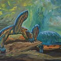 Lagoon Turtles by Anita Wann