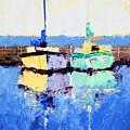 Lahaina Boats by Leslie Saeta
