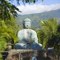 Lahaina Buddha At Jodo  by Ron Dahlquist - Printscapes