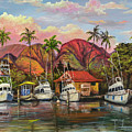 Lahaina Harbor Sunset by Darice Machel McGuire