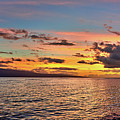 Lahaina Sunset Panorama by Eddie Yerkish