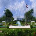 Laie Hawaii Temple by Geoffrey Lewis