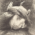 L'aile Impuissante N'eleva Point La Bete En Ces Noirs Espaces (the Impotent Wing Did Not Lift The Animal Into That Black Space by Odilon Redon