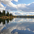 Lake And Clouds by Perl Photography