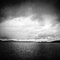 Lake And Dramatic Sky Black And White by Matthias Hauser