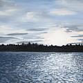 Lake At Sunset by Sharon Marcella Marston