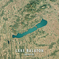 Lake Balaton 3d Render Satellite View Topographic Map by Frank Ramspott