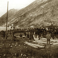 Lake Bennett With Riveboats Klondike Gold Rush  July 6, 1899 by California Views Archives Mr Pat Hathaway Archives