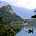 Lake Bled With Row Boat by Clyn Robinson