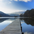 Lake Chambon. Auvergne. France by Bernard Jaubert