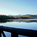 Lake Chocorua Autumn by Nancy De Flon