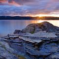 Lake Coeur D'alene Sunset by Idaho Scenic Images Linda Lantzy