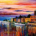 Lake Como - Bellagio  by Leonid Afremov