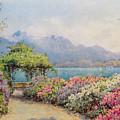 Lake Como From The Villa Carlotta by Ernest Arthur Rowe