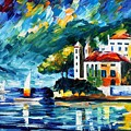 Lake Como Italy by Leonid Afremov
