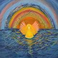 Lake Erie Tie Dye Angel by Anne Cameron Cutri