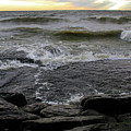 Lake Flowing Over Rocks by Angela Murdock