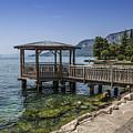 Lake Garda Riverside At Garda by Melanie Viola