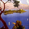 Lake Garda Vintage Poster Restored by Vintage Treasure