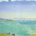 Lake Geneva From The Caux by Ferdinand Hodler