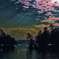 Lake George Sun Rays by David Patterson