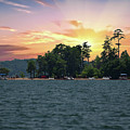 Lake Hartwell Sunrise In Anderson Sc by Dale Powell