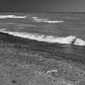 Lake Huron Windy Day 4 Bw by Mary Bedy