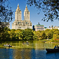 Lake In Central Park by Allan Einhorn