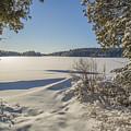 Lake In Winter by Julie DeRoche