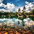 Lake Island View by Mario Carini
