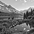 Lake Josephine Summer Sunset Black And White by Adam Jewell