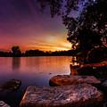 Lake Kirsty Twilight by Chris Bordeleau