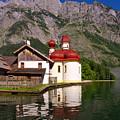 Lake Koenigssee, St. Bartholomae by Angela Doelling AD DESIGN Photo and PhotoArt