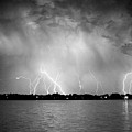Lake Lightning Bw by James BO  Insogna