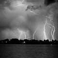 Lake Lightning Two Bw by James BO  Insogna