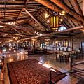Lake Lodge Interior Yellowstone by Steve Gadomski
