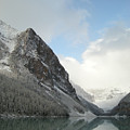 Lake Louise After First Snowfall  by Brian Hoover