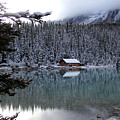 Lake Louise Boathouse by Rhonda Robinson