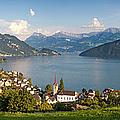 Lake Lucerne At Weggis by Brian Jannsen