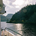 Lake Lucerne From A Boat  by Scott DaLuz