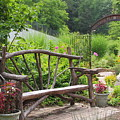 Lake Lure Flowering Bridge Bench by Allen Nice-Webb