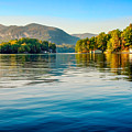Lake Lure On A Calm Fall Morning by Claudia Abbott