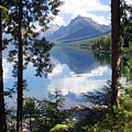 Lake Mcdlonald Through The Trees Glacier National Park by Marty Koch